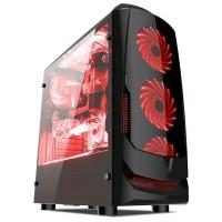 Casing PC CPU CUBE GAMING SAVORA Black - M-ATX, RGB Led Strip, Acrylic