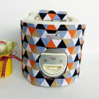Cover magic com / tutup rice cooker - Triangle black orange