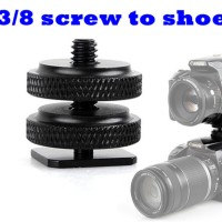 Hot Shoe to 3/8 inch Male Flash Mount Adapter