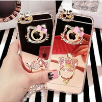 jelly case mirror blink swarovski hello kitty HK iphone 5 5s iphone 6s