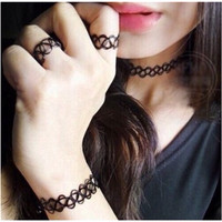 Jual 1 set Choker Kalung Tatto Murah