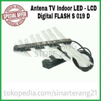 NEW Antena TV FLASH 019 Digital Indoor Dalam LED LCD Dual Band UHF VHF