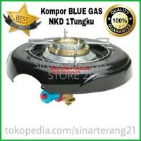 Kompor Gas Elpiji LPG BLUE GAS/ GAZ NKD NEW KOMPRE DELUXE Satu Tungku