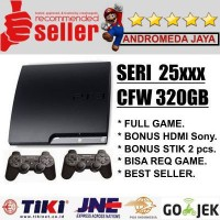 PS3 PS 3 SONY Playstation 3 Slim 320GB CFW Seri 25XX