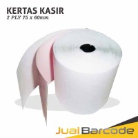 KERTAS STRUK HVS 2PLY 75x60 UNTUK PRINTER KASIR DOT MATRIX 75x60mm