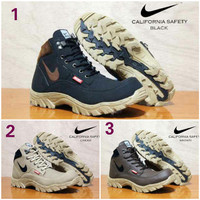 harga Sepatu Boots Pria Nike California Safety Ujung Besi Tracking Hiking Tokopedia.com