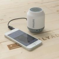 Philips wireless portable Bluetooth speaker BT50 - White/Grey