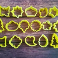 Cetakan Kue Kering Cookies Biscuit Cutter 16 macam bentuk daun bunga
