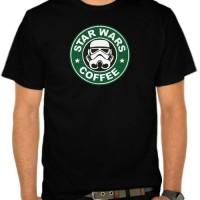 Kaos Parodi Logo Starbucks - Star Wars Coffee (NMU1)
