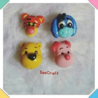 gelang anak winnie the pooh and friends handmade clay Berkualitas