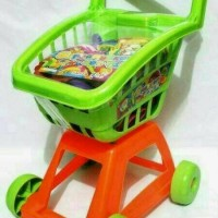 trolley set masakan/keranjang dorong supermarket mainan/kitchen set