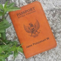 Jual passport case leather vegtan Murah