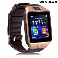 Smartwatch U9/DZ09 Smart Watch Original - Gold Strap Black/Emas Hitam