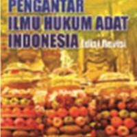 Jual Buku PENGANTAR ILMU HUKUM ADAT INDONESIA (Edisi Revisi) Murah