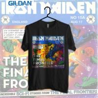 Iron Maiden The Final Frontier Cover Kaos Band Printed In Gildan Shirt