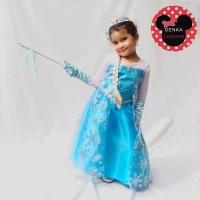 Jual Baju Kostum Anak Princess ELSA Frozen Butterfly Gaun Pesta Ulang Tahun Murah