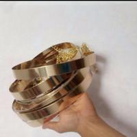 belt plat gold pakai rantai /ikat pinggang plat