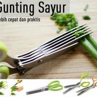 Jual [terlaris] Gunting Sayur 5 Lapis / Kitchen Scissors 5 Blades / Gunting Murah