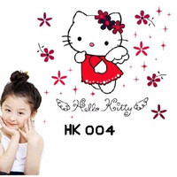 Jual [terlaris] Wall Stiker Uk.60x90 Wall Sticker Hello Kitty Angel Murah