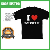 Kaos I Love POLEWALI SV-POL21