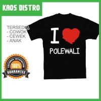 Kaos I Love POLEWALI 2 SV-POL05