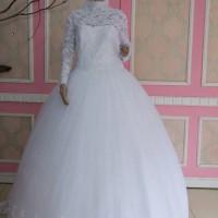 gaun pengantin muslimah baju pengantin putih muslim wedding gown impor