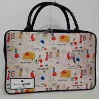 Travel bag/tas travel koper kanvas kotak jalan fashion kate spade