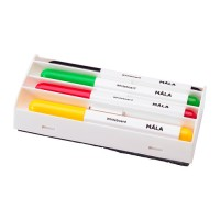 Ikea Mala ~ 4Pcs Spidol Papan Tulis Warna & Penghapus | Whiteboard Pen