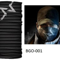 Masker Baff Bandana Aiden Pearce Watch Dogs COD DOTA Game Multifungsi