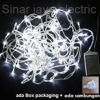 Jual lampu led natal dekorasi , led twinkle light , led string PUTIH Murah
