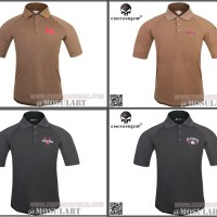 KAOS POLO SHIRT EMERSON HK LOGO VLTOR BLACKWATER TACTICAL SHIRT