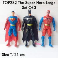 Jual TOP282 The Super Hero Large Set Of 3 toper mainan pajangan hiasan kue Murah