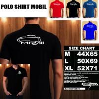 Polo Shirt Otomotif Mobil TOYOTA MIRAI SILUET 2/Kaos Kerah/Baju Kerah