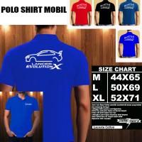 Polo Shirt Otomotif Mobil MITSUBISHI LANCER EVOLUTION X SILUET 2/Kaos