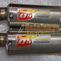 harga Knalpot Racing Byson/tiger/verza/megapro Cld Trioval Catalunya Custom Tokopedia.com