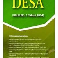 Buku Undang Undang Desa Republik Indonesia Nomor 6 Tahun 2014