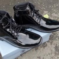 sepatu dinas PDH tali (mengkilap)