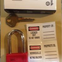 loto / safety padlock master lock gembok 410red / 410 red