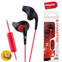 Original JVC HA-ENR15 Sport Black Earphone - Garansi Resmi 2 Tahun