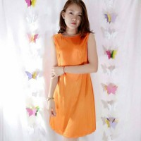 harga Home Comfy Lingery Dress - Orange Tokopedia.com