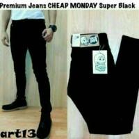 Jual Celana Jeans Skinny Stretch Cheap Monday Hitam Murah
