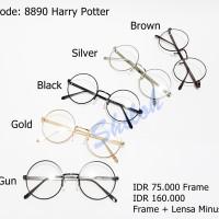 Kacamata Frame Boboho / John Lennon / Harry Potter Sudah Lensa Minus