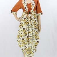 Jual BAJU MUSLIM BATIK MODEL TERBARU GROSIR LONG DRESS BATIK