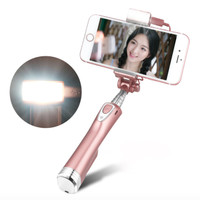 Selfie Stick With Rear Mirror Led Light Bluetooth Remote ADYSS-A8