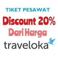 TIKET PESAWAT Promo Disc 20% Dari Traveloka - Domestik & Internasional