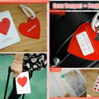 SALE Cover Passport + Pengenal Koper (1 set), Traveling jadi mudah,