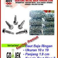 Skrup Baja Ringan 10x19 (Self Drilling Screw) Isi 500 Pcs