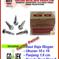 Skrup Baja Ringan 10x19 (Self Drilling Screw) Isi 10.000 Pcs
