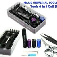 Jual Vape Vapor Tools Universal Tools 6 IN 1 Coil Jig Kit Murah