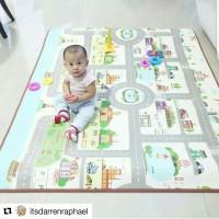Karpet bayi PARKLON Rush Hour Korea Baby Playmat PE Roll Play Mat Alas